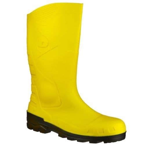 Dunlop Devon Safety Wellingtons Yellow / Black